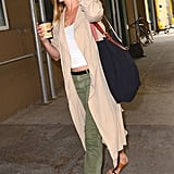 Jen's Olive-Tone Denim Worked With a Handful of Neutrals