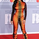 Jorja Smith at the 2020 BRIT Awards Red Carpet