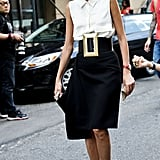 Giovanna Battaglia buckled up.