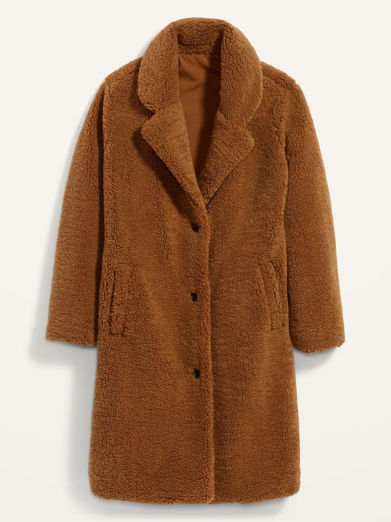 Oversized Cozy Sherpa Overcoat