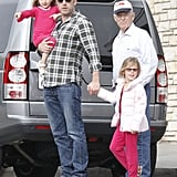 Ben Affleck was accompanied by daughters Violet Affleck and Seraphina Affleck to shop for Mother's Day gifts in LA,