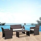 Costway Outdoor Patio Rattan Wicker Furniture Set