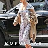 Selena Gomez Blue Floral Reformation Dress