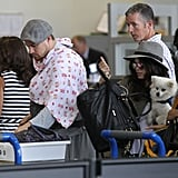 Channing Tatum and Jenna Dewan traveled with baby Everly through LAX.