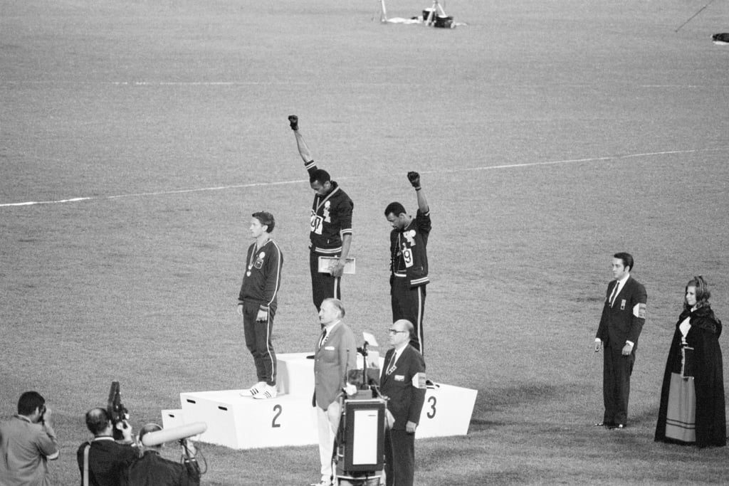 Tommie Smith and John Carlos at the 1968 Olympic Games