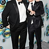 Brendan Gleeson and Michael Fassbender at the Golden Globes.