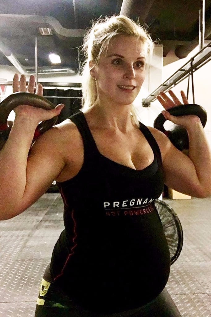 Anna Hulda Olafsdottir Doing CrossFit at 39 Weeks Pregnant