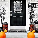 Monogrammed Halloween Scene