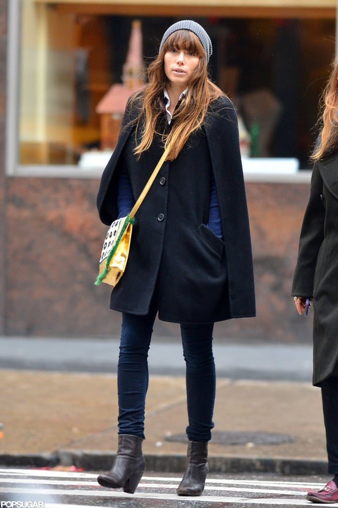 Jessica Biel bundled up for a stroll in NYC.