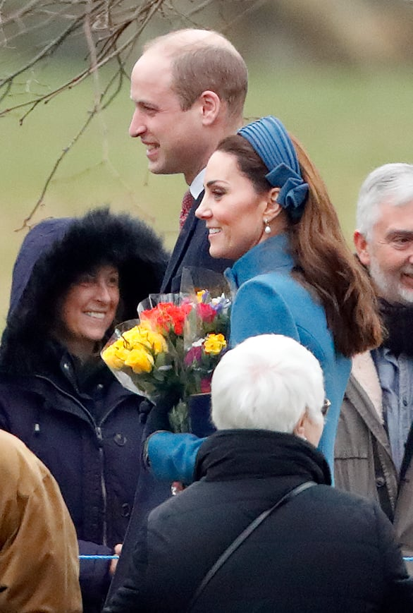 Prince William and Kate Middleton at Church Jan. 2019