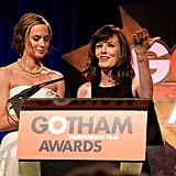 Emily Blunt and Rosemarie DeWitt spoke together.