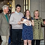 Chelsea Clinton Leaving the Hospital With Her Baby 2016