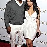 Kim Kardashian and Reggie Bush at Lavo in Las Vegas in 2010