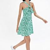 UO Y-Neck Twist-Front Mini Dress