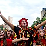 In Madrid, Spanish soccer fans watched as their team played against the Netherlands.
