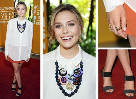 Pictures of Elizabeth Olsen at the The Hollywood Foreign Press Association's Installation Luncheon at Beverly Hills H