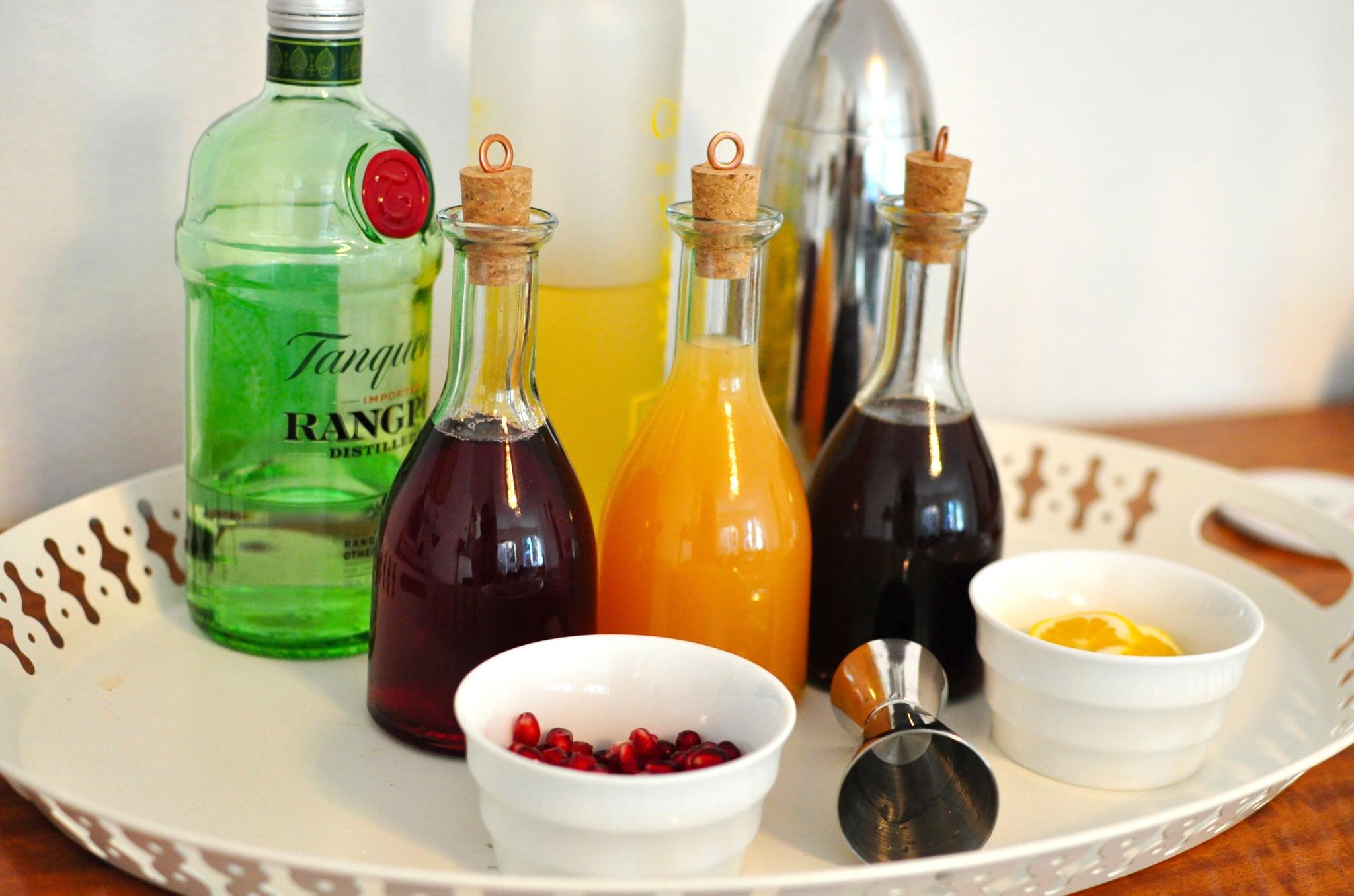 Pomegranate Citrus, Grapefruit Basil, and Cranberry Mint Champagne Cocktails