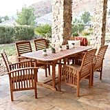 Brown Acacia 7-Piece Dining Set