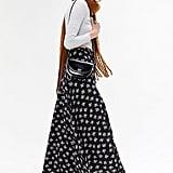 UO Dobby Floral Maxi Skirt