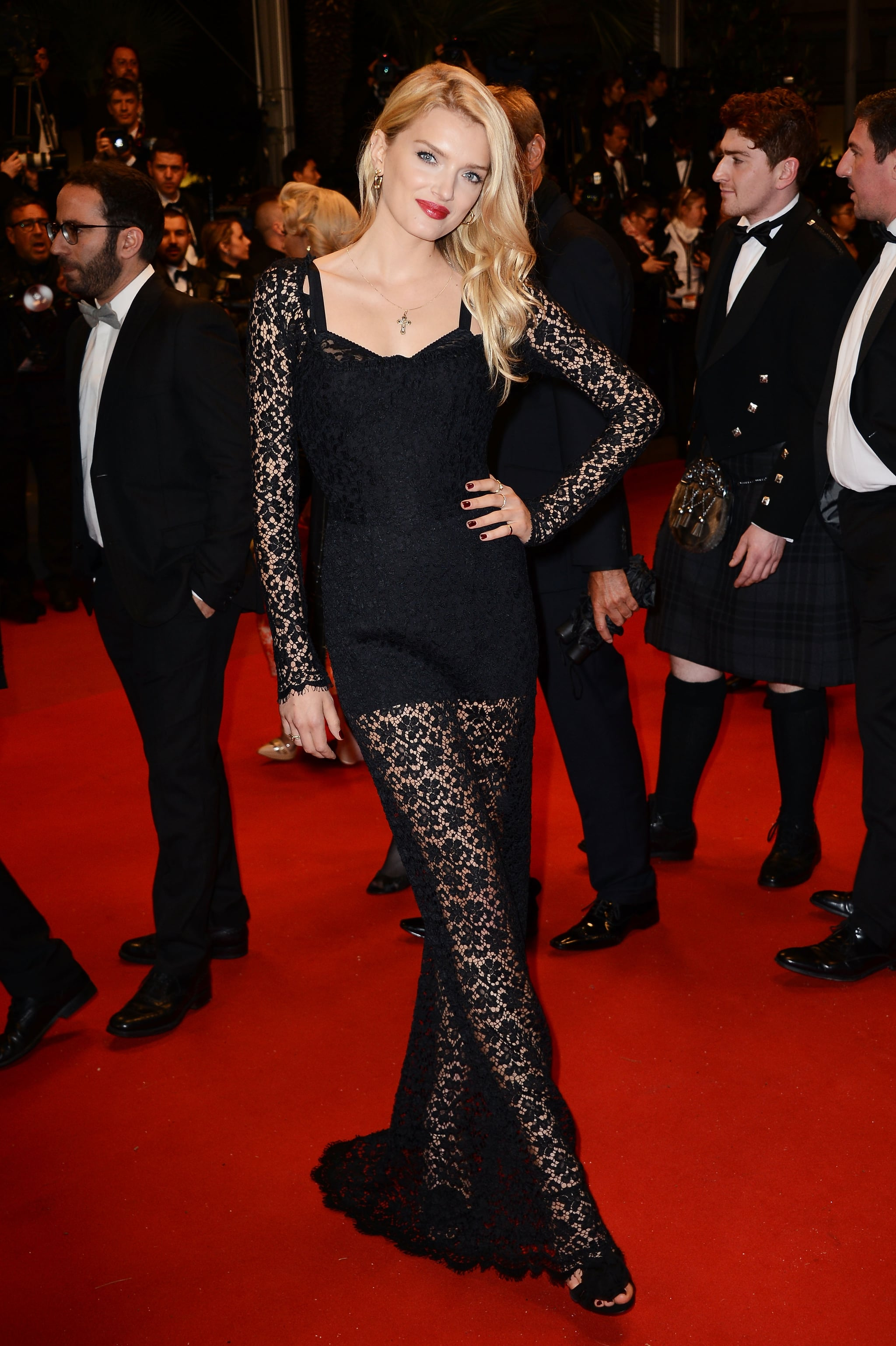 Lily Donaldson at the Cannes premiere of Only God Forgives.