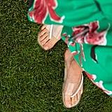 Zara Vinyl Cross Strap Flat Sandal