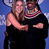 Mariah Carey and Stevie Wonder posed for a pic at the December 1998 Billboard Music Awards.