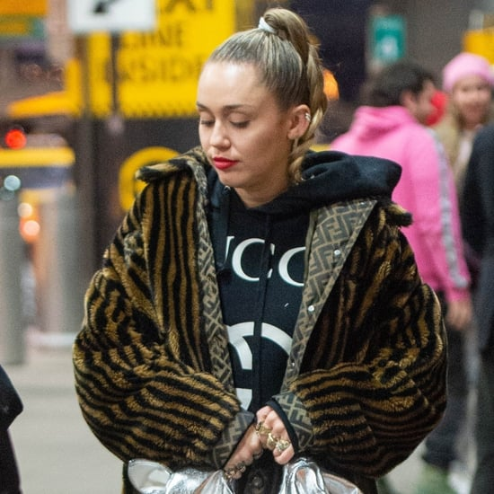 Miley Cyrus's Fendi Faux Fur Coat December 2018