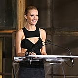 Gwyneth Paltrow appeared on stage at the Michael Kors Golden Heart Gala in NYC.
