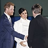 Prince Harry and Meghan Markle at Wider Earth Gala Feb. 2019