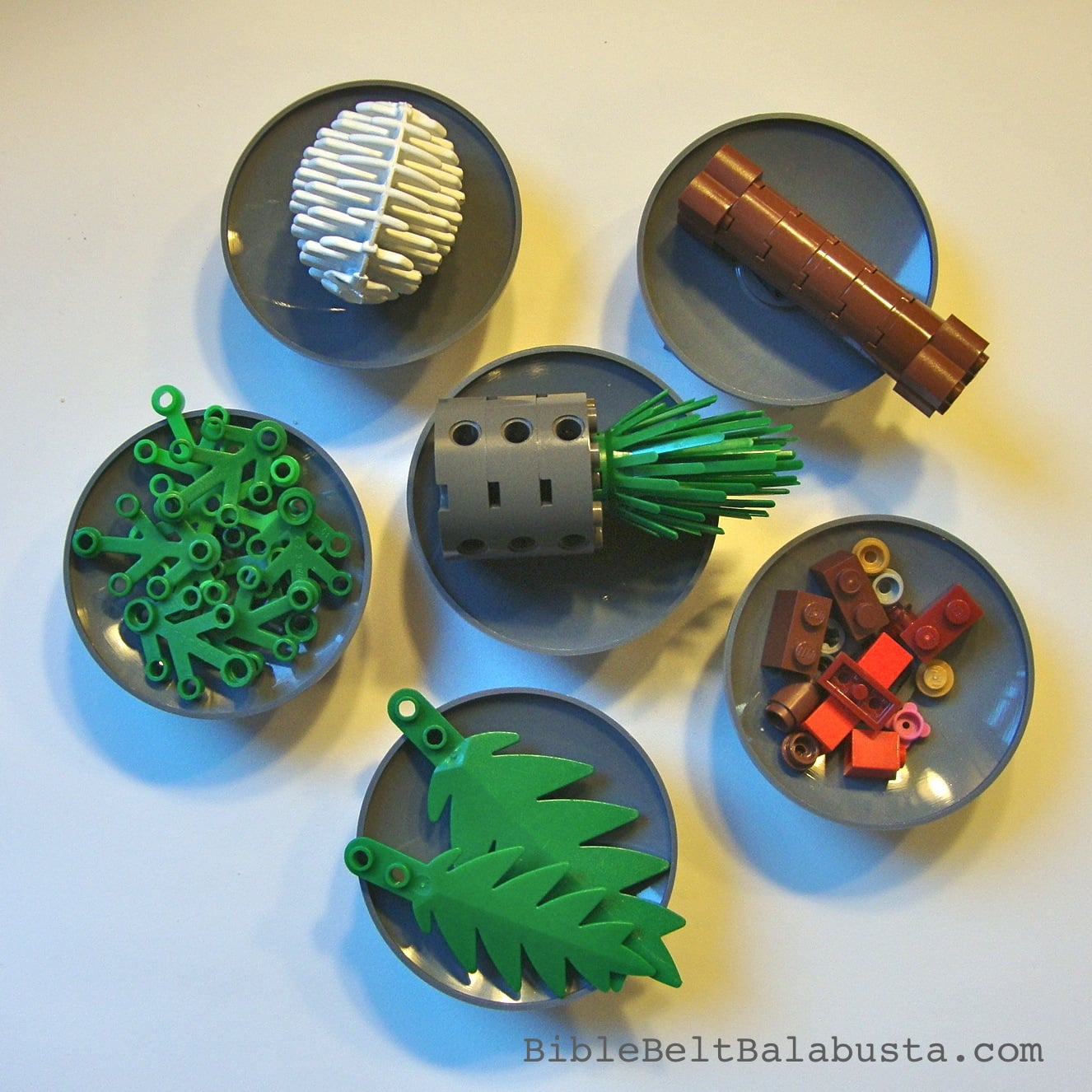 Lego Seder Plates