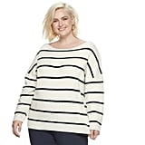 POPSUGAR at Kohl's Striped Oversize Sweater