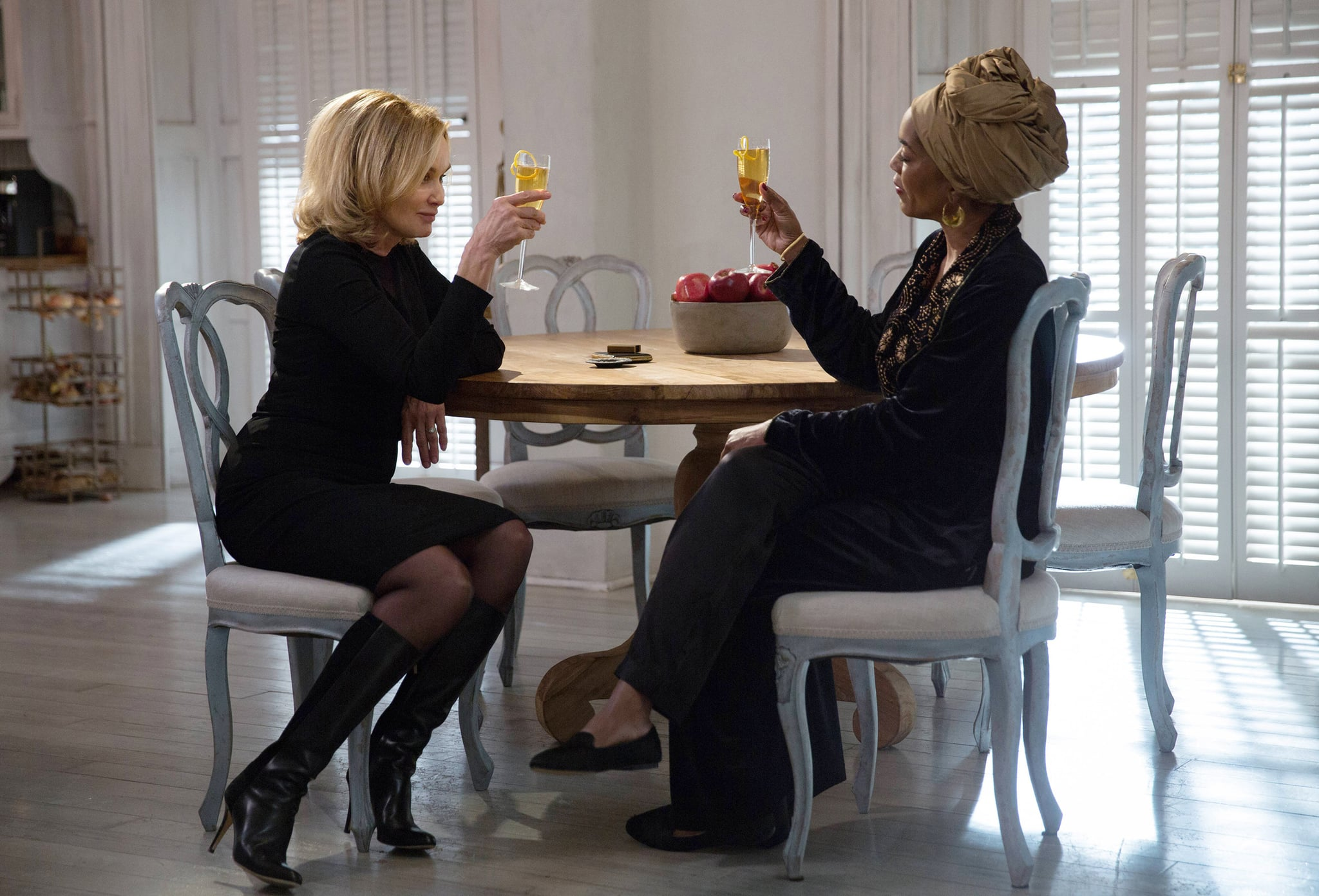 AMERICAN HORROR STORY: COVEN, l-r: Jessica Lange, Angela Bassett in 'Protect The Coven' (Season 3, Episode 11, aired January 15, 2014). ph: Michele K. Short/FX/courtesy Everett Collection