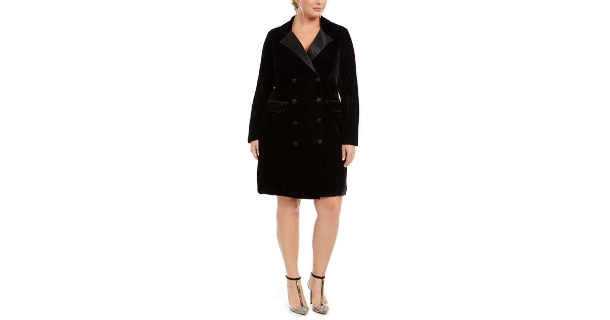 City Studios Trendy Plus Size Velvet Tuxedo Dress | The 17 ...