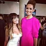 """Samantha Jade and Rikki-Lee caught up backstage at the ARIAs and posted this pic to Instagram a few days later, saying she was having a """"fan girl moment"""". Source: Instagram user samantha_jade_music"""