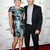 Tiffani Thiessen and Luke Perry paired up at a Tuesday night Hallmark event in LA.