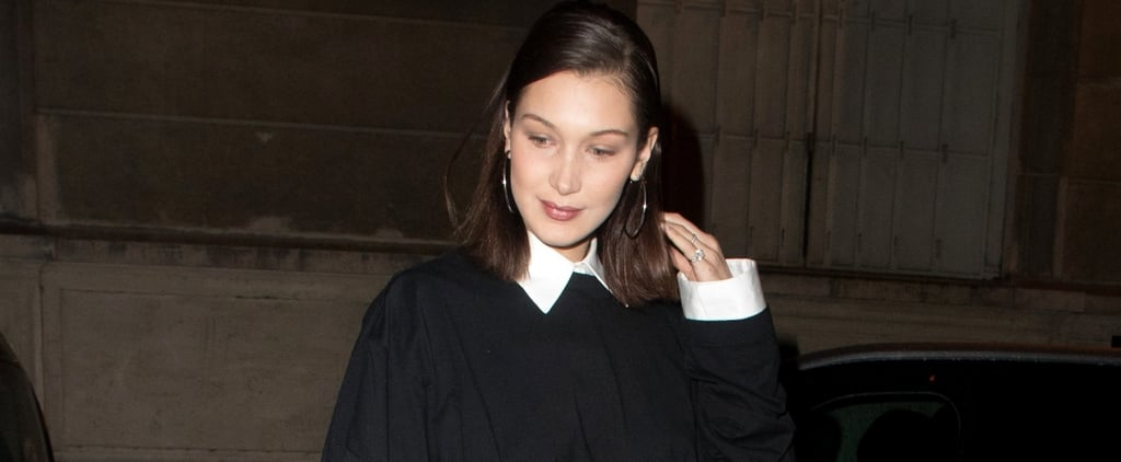 Bella Hadid's Outrageous Boots Will Remind You of Your Grandma's Couch Wrapped in Plastic