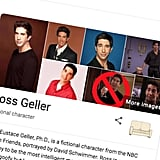 Ross Geller Friends Google Easter Egg