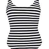 Swimsuits For All Hotshot Striped Ribbed Swimsuit