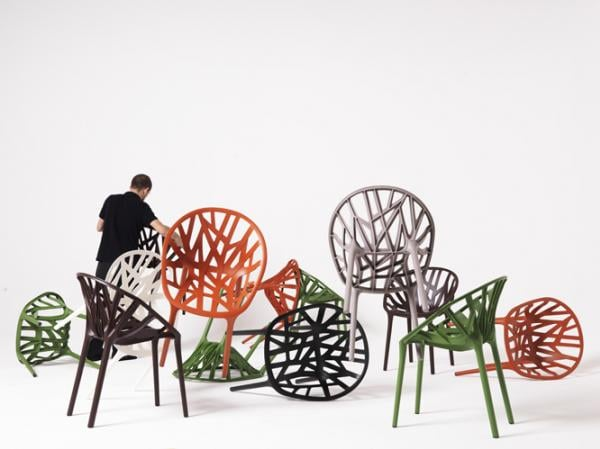 The Vegetal Chair for Vitra ($600) from Ronan and Erwan Bouroullec features a   plant-like geometric structure made of polyamide.