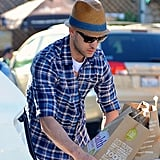 Justin Timberlake Stocks Up on Groceries For His Super Bowl Fiesta
