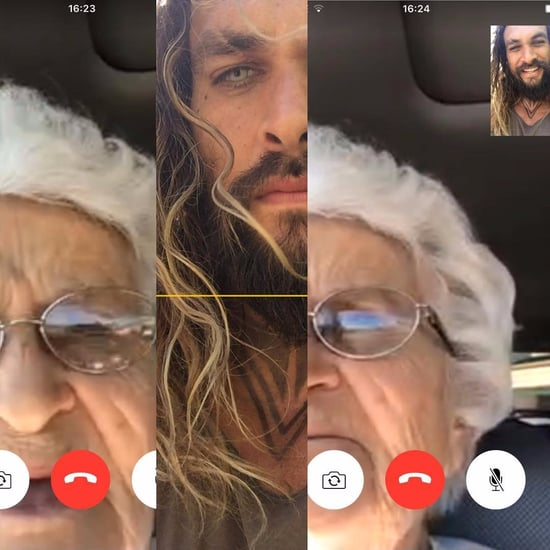 Jason Momoa FaceTimes Grandma as Aquaman