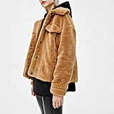 pull&bear Faux Shearling Trucker Jacket
