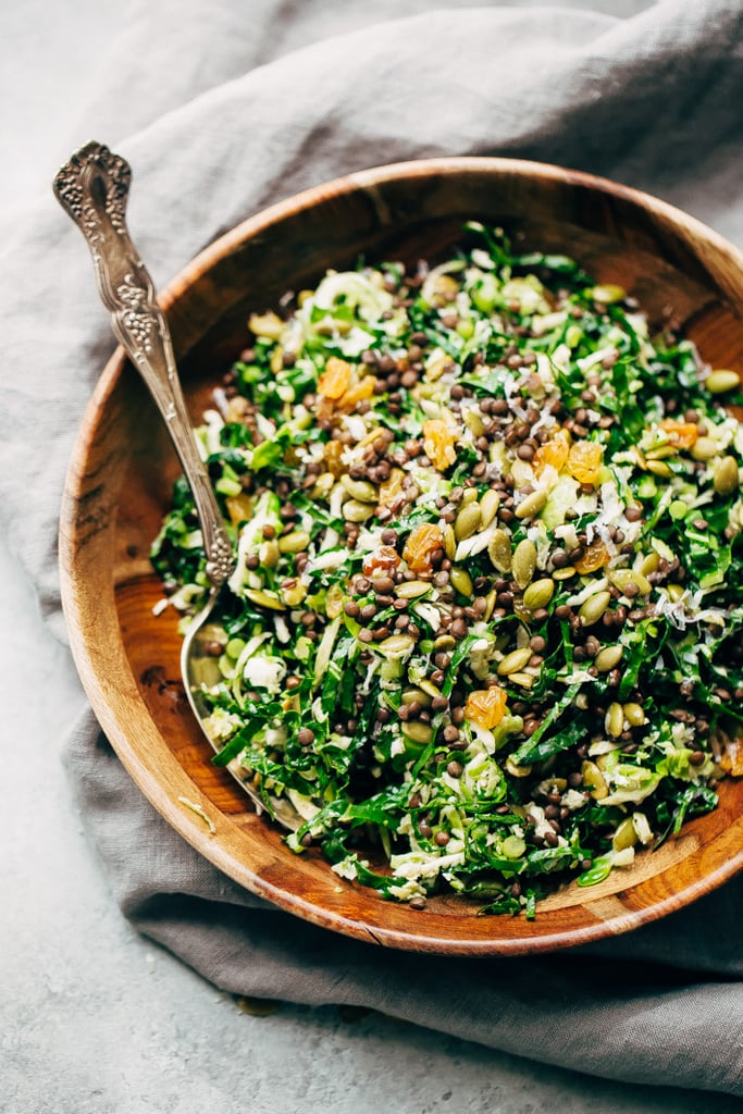 Autumn Lentil Kale Salad With Parmesan