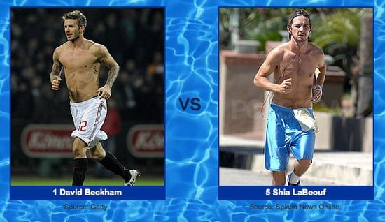 Shia Is Holding His Own Against David Beckham in Shirtless Bracket Round Three!