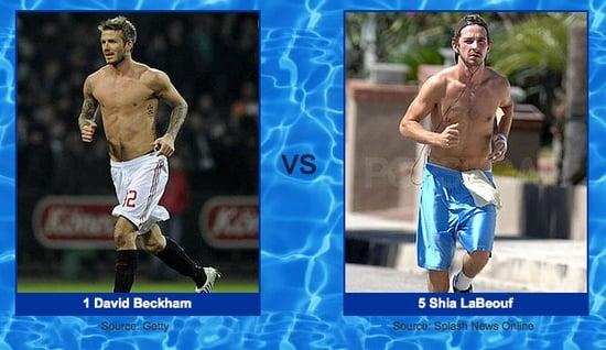 Shia Is Holding His Own Against David Beckham in Shirtless Bracket Round Three!