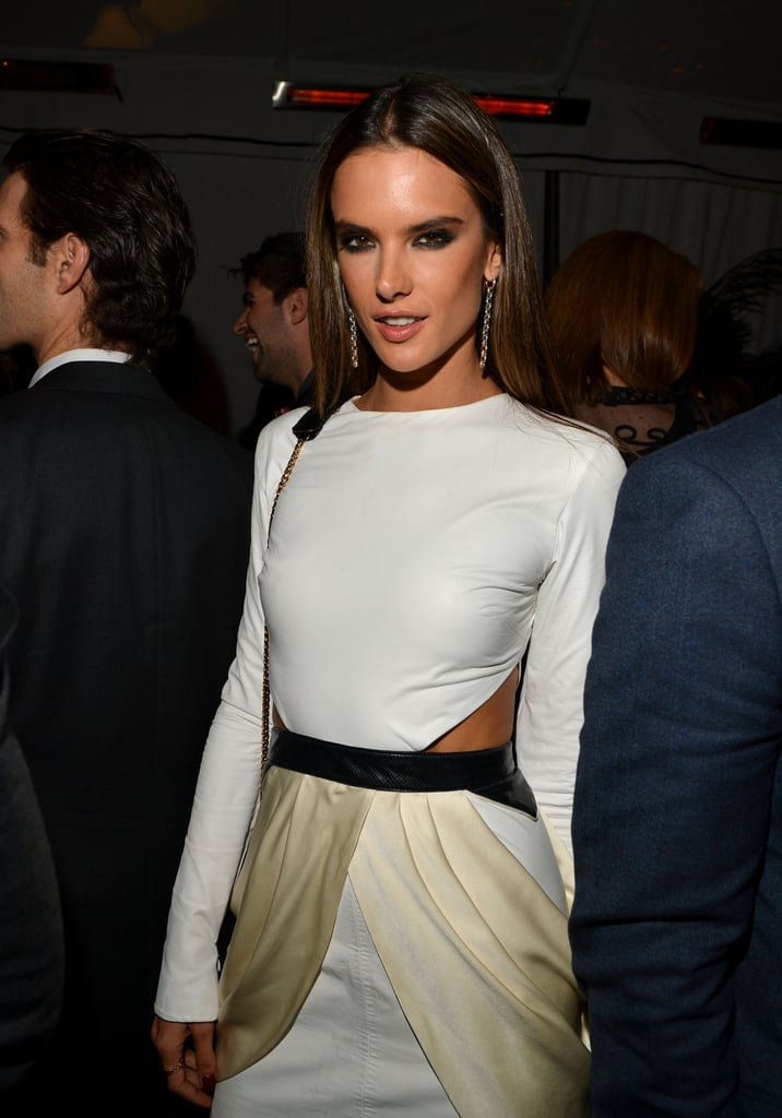Alessandra Ambrosio made an appearance at the GQ afterparty.