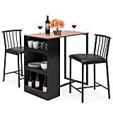 Best Choice Products 36-Inch Wooden Metal Kitchen Counter Height Dining Table Set