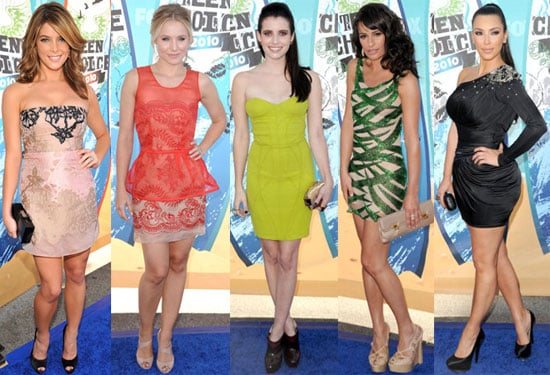Pictures of Ashley Greene, Kristen Bell, Kim Kardashian, Lea Michele and More on 2010 Teen Choice Awards Red Carpet 2010-08-08 23:06:00