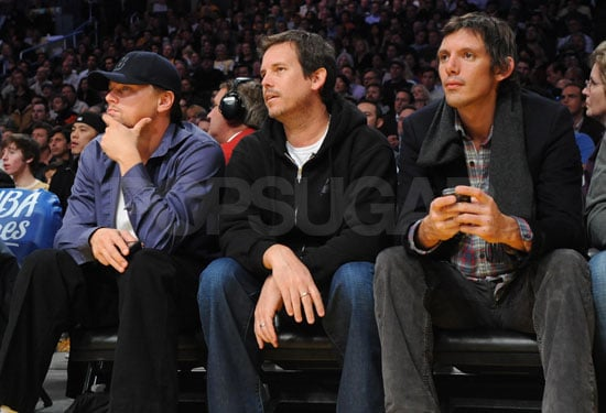 Leonardo DiCaprio and Lukas Haas at the Suns vs. Lakers Game