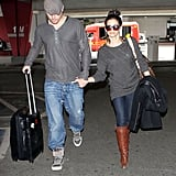 Channing Tatum and Jenna Dewan Stick Together For Their Return Home